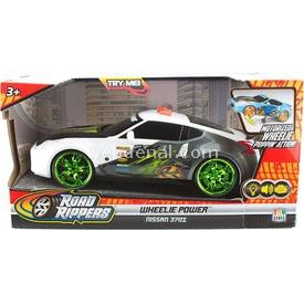 Road Rippers R.r. Wheelie Power Şahlanan Işıklı Ve Sesli Araba Nissan 370 Z Beyaz Arabalar