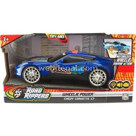 Road Rippers R.r. Wheelie Power Şahlanan Işıklı Ve Sesli Araba Chevy Corvette C7 Ma Arabalar