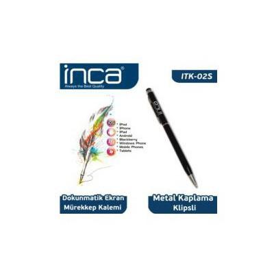 Inca Itk-02s Inca Itk-02s Touchscreen Stylus & Ink Pen Dokunmatik Tablet Kalemi Siyah Dokunmatik Kalem