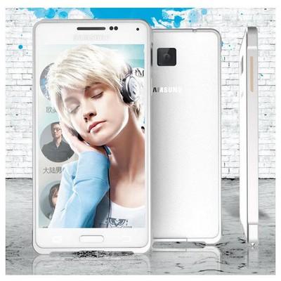 Microsonic Samsung Galaxy Alpha Thin Metal Bumper Kılıf Sarı Cep Telefonu Kılıfı