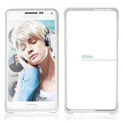 Microsonic Samsung Galaxy Alpha Thin Metal Bumper Kılıf Gümüş Cep Telefonu Kılıfı