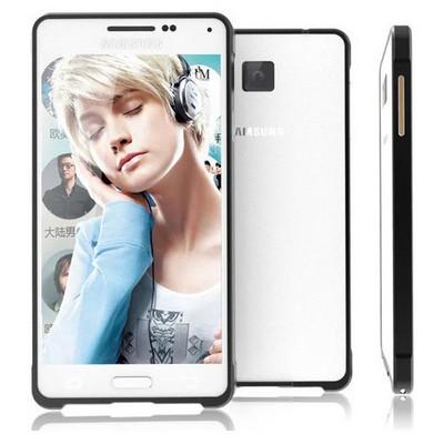Microsonic Samsung Galaxy Alpha Thin Metal Bumper Kılıf Siyah Cep Telefonu Kılıfı