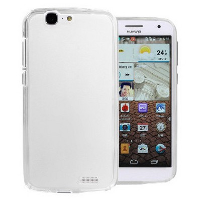 Microsonic Glossy Soft Huawei Ascend G7 Kılıf Beyaz Cep Telefonu Kılıfı
