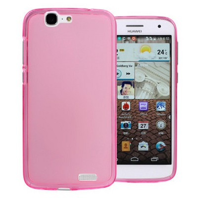 Microsonic Glossy Soft Huawei Ascend G7 Kılıf Pembe Cep Telefonu Kılıfı
