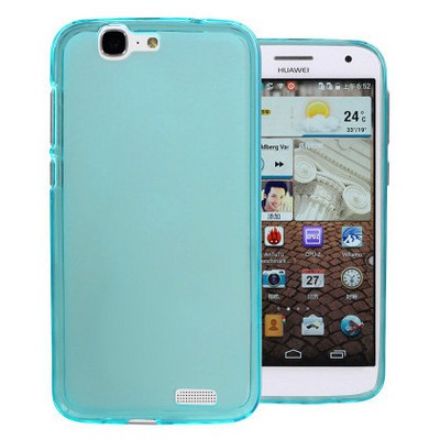 Microsonic parlak Soft Huawei Ascend G7 Kılıf Mavi Cep Telefonu Kılıfı