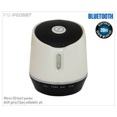 Frisby FS-P206BT BEYAZ BLUETOOTH SPEAKER Bluetooth Hoparlör