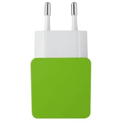 Trust 20150 Duvar Tipi Çift Girişli  Yeşil/Beyaz Şarj Cihazları