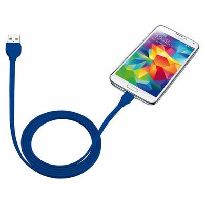 Trust 20136 Flat Mikro Usb Kablo (Samsung) 1-Mavi Dönüştürücü Kablo