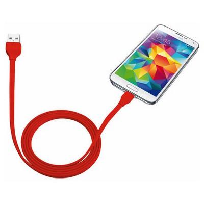 Trust Urban 20137 Flat Mikro Usb Kablo (Samsung) 1m-Kırmızı Adaptör Kablosu