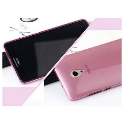 Microsonic Transparent Soft Asus Zenfone 5 Kılıf Pembe Cep Telefonu Kılıfı