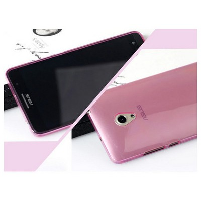 Microsonic Transparent Soft Asus Zenfone 6 Kılıf Pembe Cep Telefonu Kılıfı