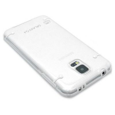 Microsonic Hybrid Transparant Samsung Galaxy S5 Kılıf Beyaz Cep Telefonu Kılıfı