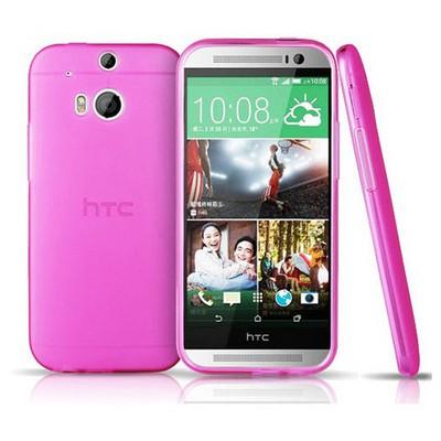 Microsonic Transparent Soft Htc One M8 Kılıf Pembe Cep Telefonu Kılıfı