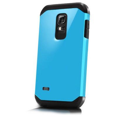 Microsonic Slim Fit Dual Layer Armor Samsung Galaxy S5 Mini Kılıf Mavi Cep Telefonu Kılıfı