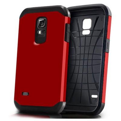 Microsonic Slim Fit Dual Layer Armor Samsung Galaxy S5 Mini Kılıf Kırmızı Cep Telefonu Kılıfı