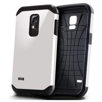 Microsonic Slim Fit Dual Layer Armor Samsung Galaxy S5 Mini Kılıf Beyaz Cep Telefonu Kılıfı