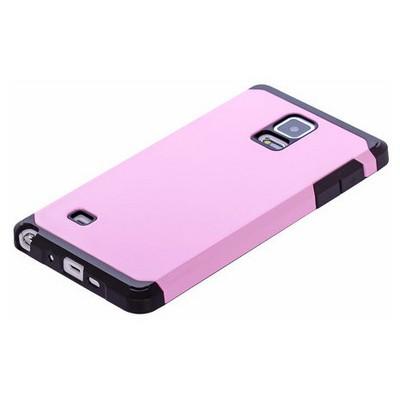 Microsonic Slim Fit Dual Layer Armor Samsung Galaxy Note 4 Kılıf Pembe Cep Telefonu Kılıfı