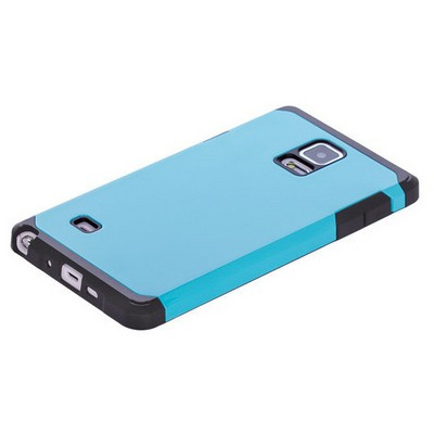 Microsonic Slim Fit Dual Layer Armor Samsung Galaxy Note 4 Kılıf Mavi Cep Telefonu Kılıfı