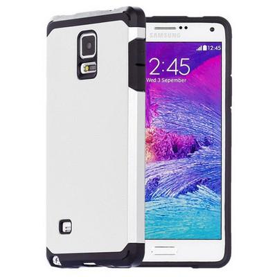 Microsonic Slim Fit Dual Layer Armor Samsung Galaxy Note 4 Kılıf Beyaz Cep Telefonu Kılıfı