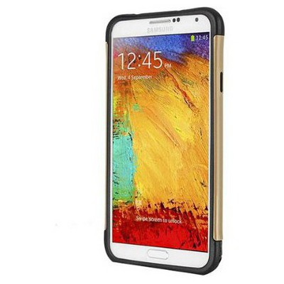 Microsonic Slim Fit Dual Layer Armor Samsung Galaxy Note 3 Kılıf Sarı Cep Telefonu Kılıfı