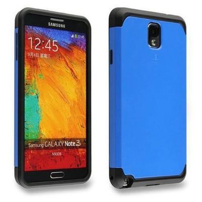 Microsonic Slim Fit Dual Layer Armor Samsung Galaxy Note 2 Kılıf Mavi Cep Telefonu Kılıfı