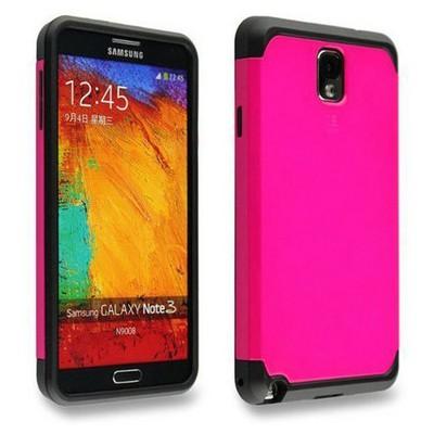 Microsonic Slim Fit Dual Layer Armor Samsung Galaxy Note 2 Kılıf Pembe Cep Telefonu Kılıfı