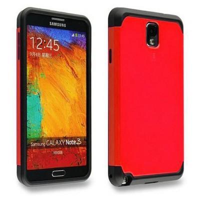 Microsonic Slim Fit Dual Layer Armor Samsung Galaxy Note 2 Kılıf Kırmızı Cep Telefonu Kılıfı