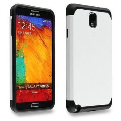 Microsonic Slim Fit Dual Layer Armor Samsung Galaxy Note 2 Kılıf Beyaz Cep Telefonu Kılıfı