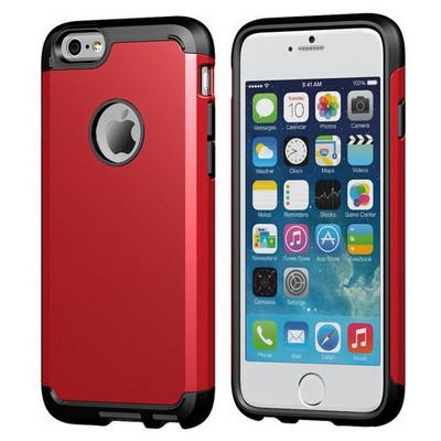 Microsonic Slim Fit Dual Layer Armor Iphone 6 Plus (5.5) Kılıf Kırmızı Cep Telefonu Kılıfı