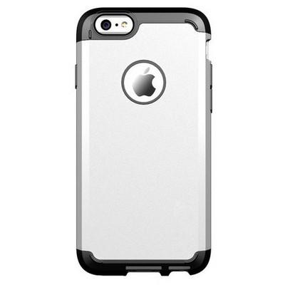 Microsonic Slim Fit Dual Layer Armor Iphone 6 Plus (5.5) Kılıf Gümüş Cep Telefonu Kılıfı