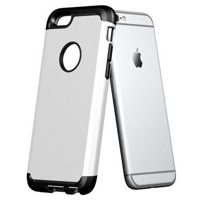 Microsonic Slim Fit Dual Layer Armor Iphone 6 Plus (5.5) Kılıf Beyaz Cep Telefonu Kılıfı
