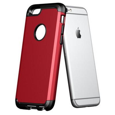 Microsonic Slim Fit Dual Layer Armor Iphone 6 (4.7) Kılıf Kırmızı Cep Telefonu Kılıfı