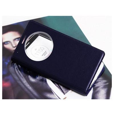 Microsonic View Slim Kapaklı Deri Lg G3 Mini (g3 S, G3 Beat) Kılıf Akıllı Modlu Siyah Cep Telefonu Kılıfı