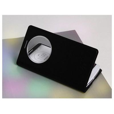 Microsonic View Slim Kapaklı Deri Lg G3 Kılıf Akıllı Modlu Siyah Cep Telefonu Kılıfı