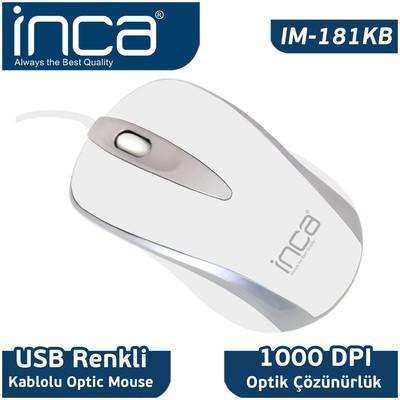 Inca IM-181KB Kablolu Mouse - Beyaz
