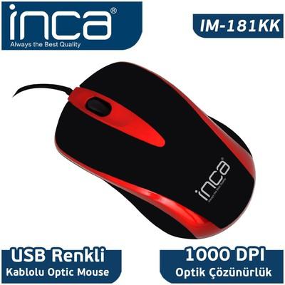 Inca Im-181kk Usb 1000 Dpi Kablolu  Kırmızı Mouse