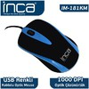 Inca IM-181KM USB 1000 DPİ KABLOLU MOUSE MAVİ Mouse