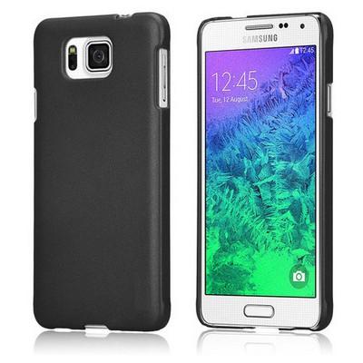 Microsonic Premium Slim Samsung Galaxy Alpha Kılıf Siyah Cep Telefonu Kılıfı