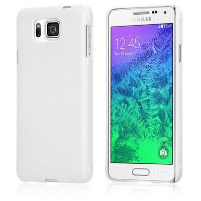 Microsonic Premium Slim Samsung Galaxy Alpha Kılıf Beyaz Cep Telefonu Kılıfı
