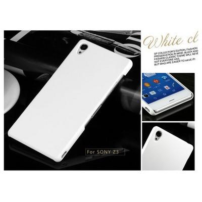 Microsonic Premium Slim Sony Xperia Z3 Kılıf Beyaz Cep Telefonu Kılıfı