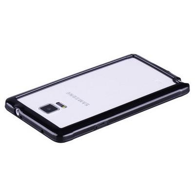 Microsonic Soft Bumper Samsung Galaxy Note 4 Kılıf Siyah Cep Telefonu Kılıfı