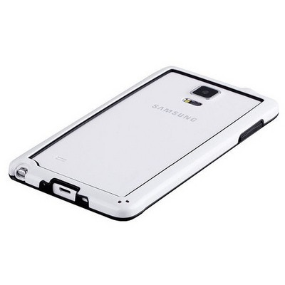 Microsonic Soft Bumper Samsung Galaxy Note 4 Kılıf Beyaz Cep Telefonu Kılıfı