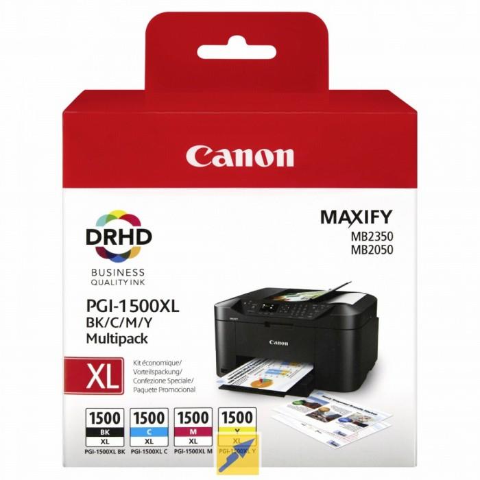 Canon PGI-1500XL C-M-Y-BK Renkli Kartuş