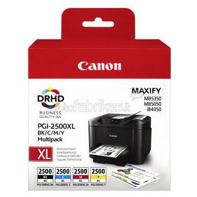 Canon PGI-2500XL BK/C/M/Y Maxify Çoklu Mürekkep u Kartuş