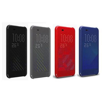 Microsonic View Cover Dot Delux Kapaklı Htc Desire 820 Kılıf Akıllı Modlu Siyah Cep Telefonu Kılıfı