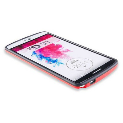 Microsonic Soft Bumper Lg G3 Kılıf Kırmızı Cep Telefonu Kılıfı