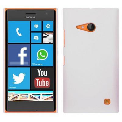 Microsonic Premium Slim Nokia Lumia 735 Kılıf Beyaz Cep Telefonu Kılıfı