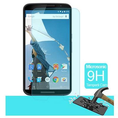 Microsonic Temperli Cam Ekran Koruyucu Motorola Nexus 6 Kırılmaz Film Ekran Koruyucu Film