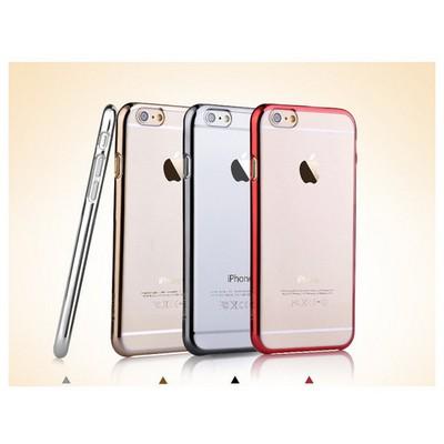 Microsonic Metalik Transparent Iphone 6 Plus (5.5'') Kılıf Gümüş Cep Telefonu Kılıfı