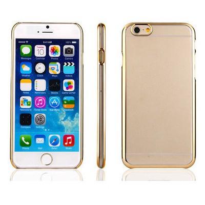 Microsonic Metalik Transparent Iphone 6 Plus (5.5'') Kılıf Altın Sarısı Cep Telefonu Kılıfı
